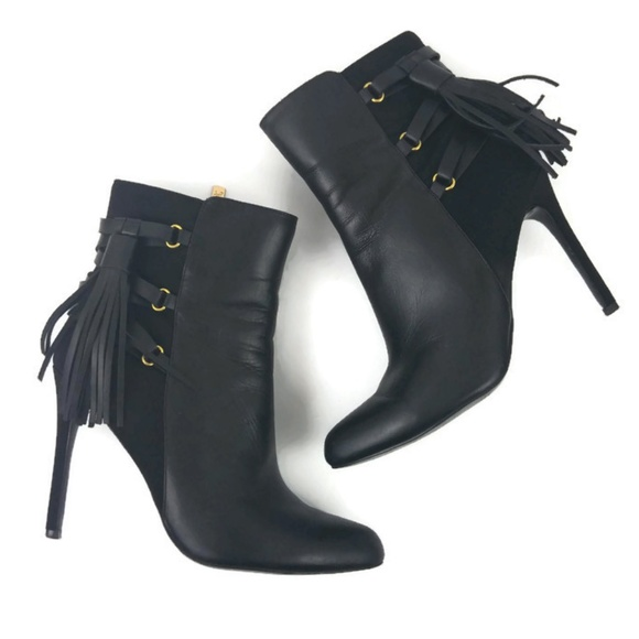 de1bffa0019 Adrianna Papell Shoes | Isabelle Leather Tassel Booties | Poshmark